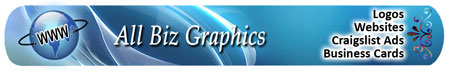 ALL BIZ SUPPORT - WEBSITES, BUSINESS CARDS, CRAIGSLIST ADS, LOGOS, CUSTOM GRAPHICS AND MORE...
